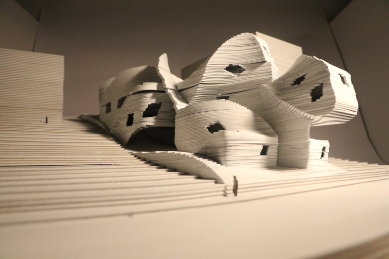laser cut architecture layering