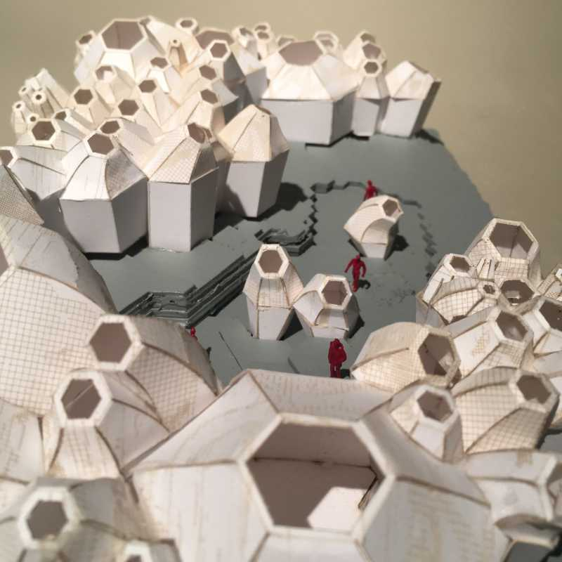 a bunch of laser cut architectural models