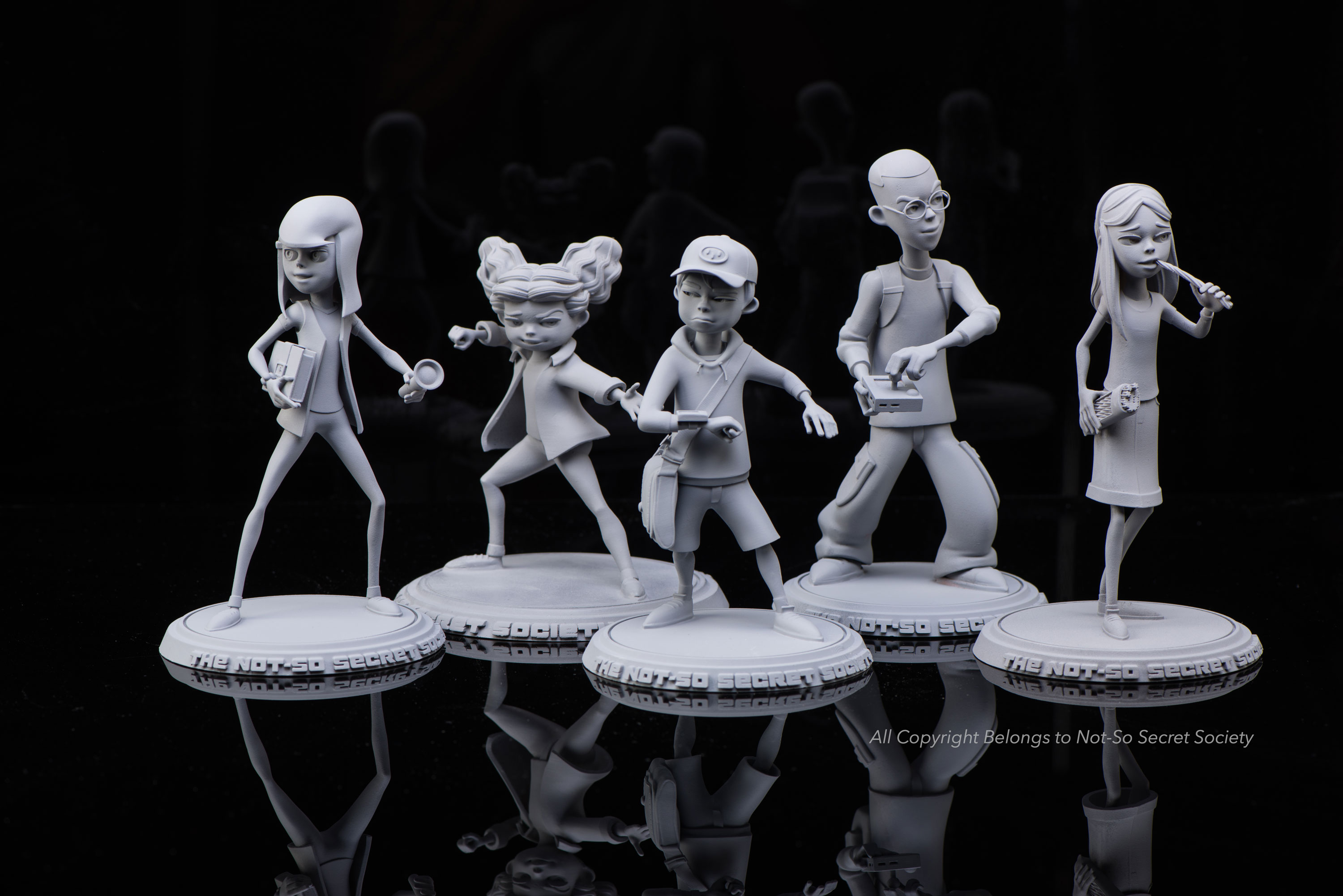 3d printed The not-so secret society characters