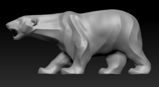 Bear sculpture modeling