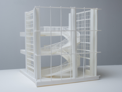 3D printed architectural model side view