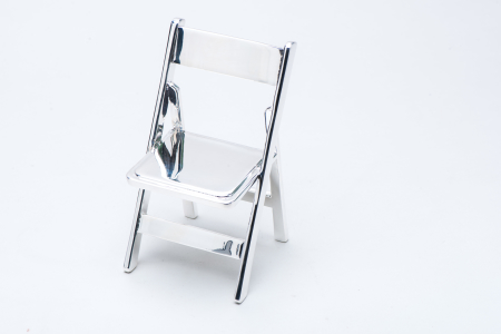 3D printed chair and silver plated
