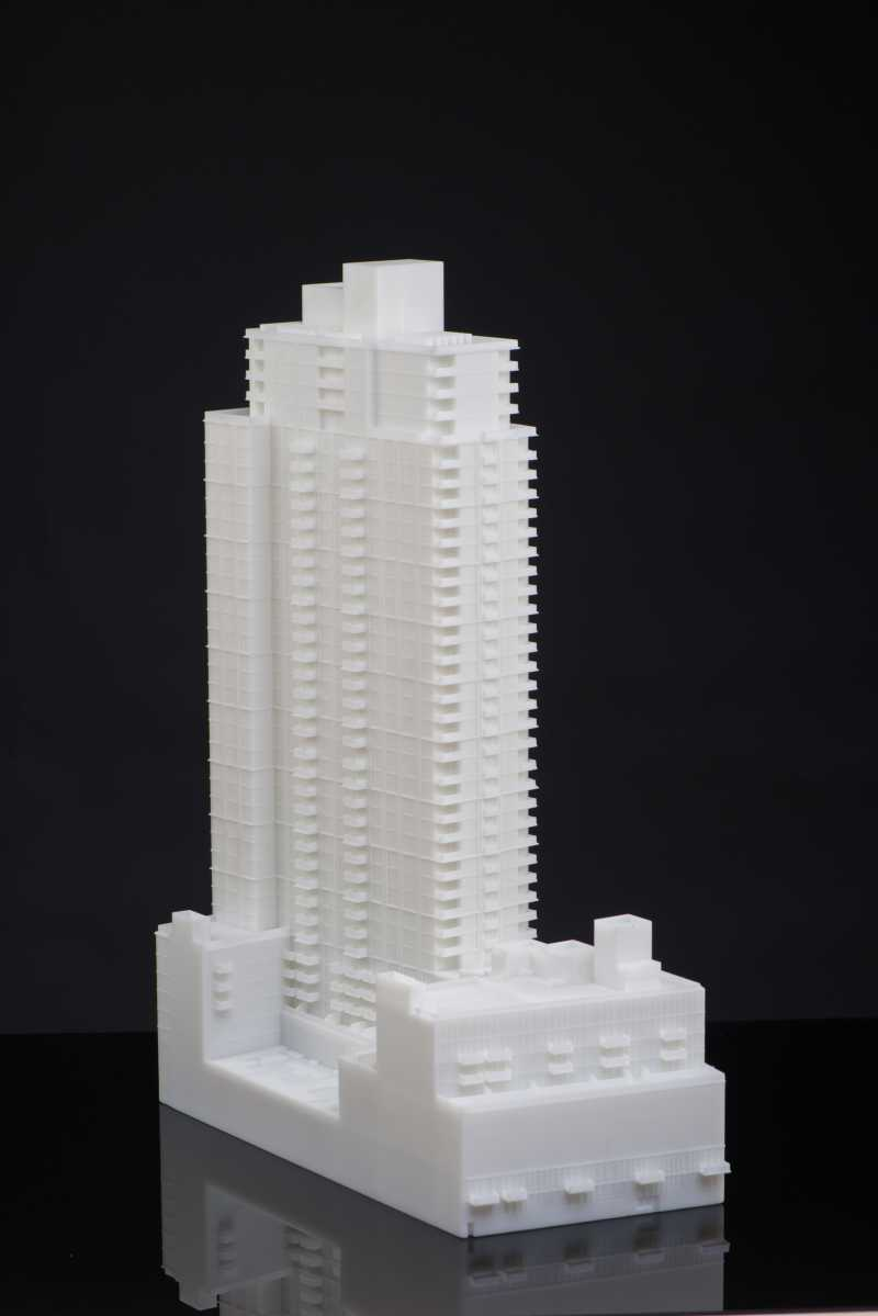 3d printed architecture model 2ft