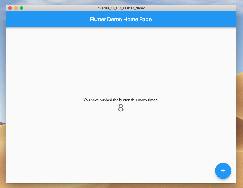flutter demo home page