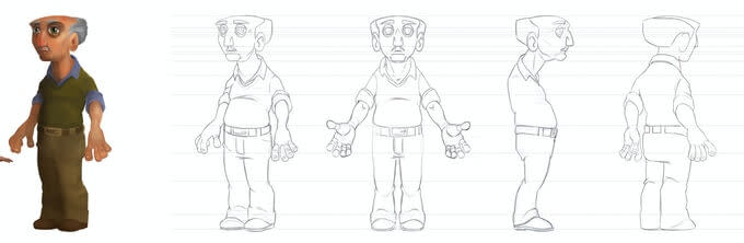 Character design The grandfather