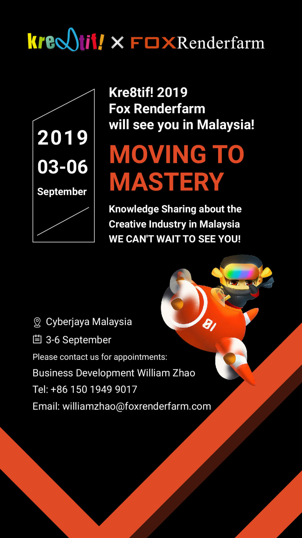 Kre8tif!2019 Fox Renderfarm will see you in Malaysia!-Invitation