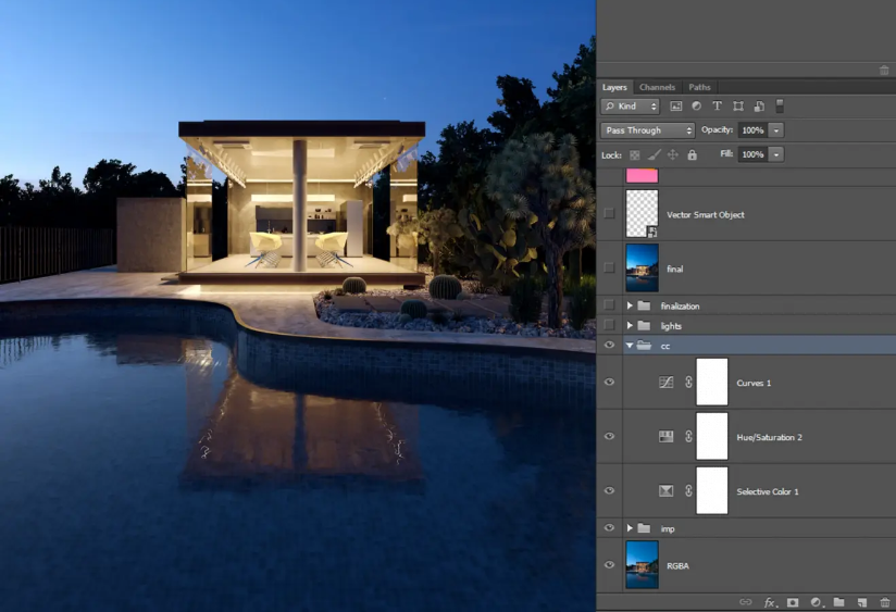3ds Max Tutorial Analysis of Building Rendering in Dusk (7)