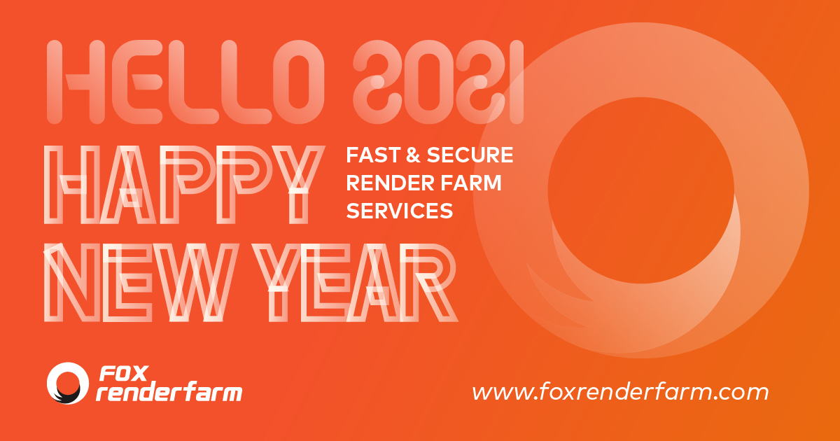 Happy New Year from Fox Renderfarm