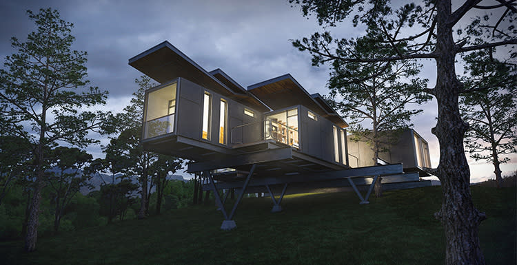 V-Ray-For-Sketchup-To-Make-A-Work-Container-Cabin