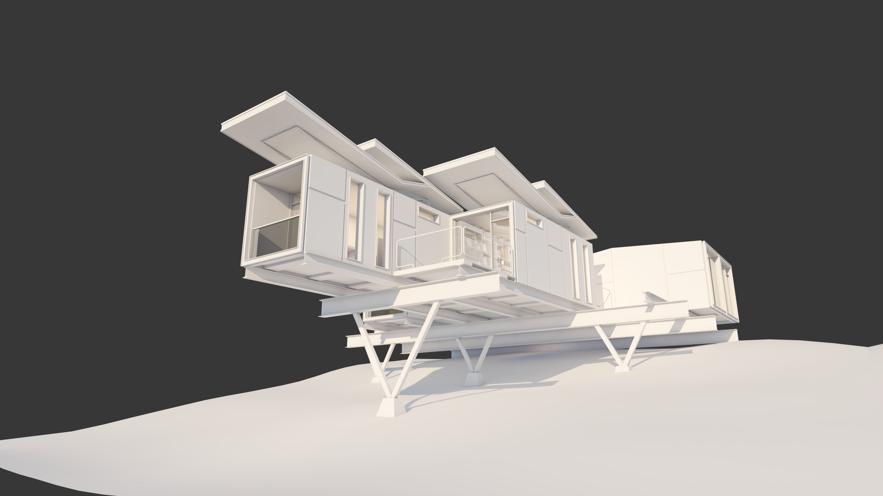 V-Ray For Sketchup To Make A Work Container Cabin 11
