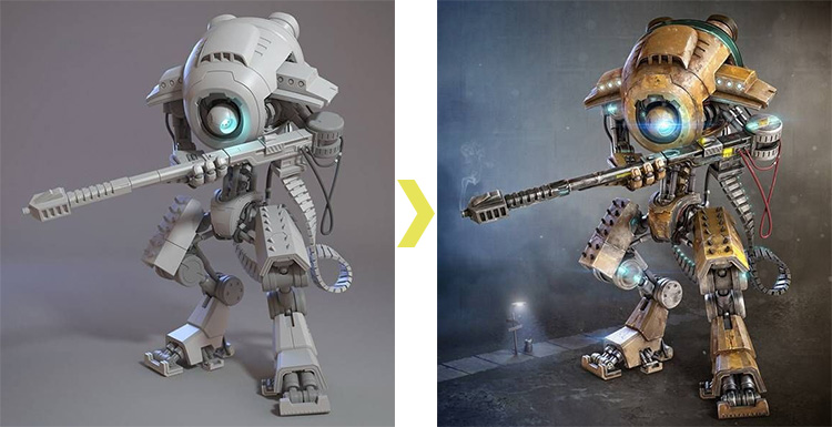 V-Ray for 3ds Max Tutorial: How To Create a Sniper Robot