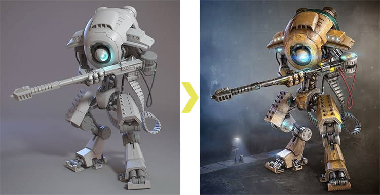 V-Ray for 3ds Max Tutorial How To Create a Sniper Robot -15