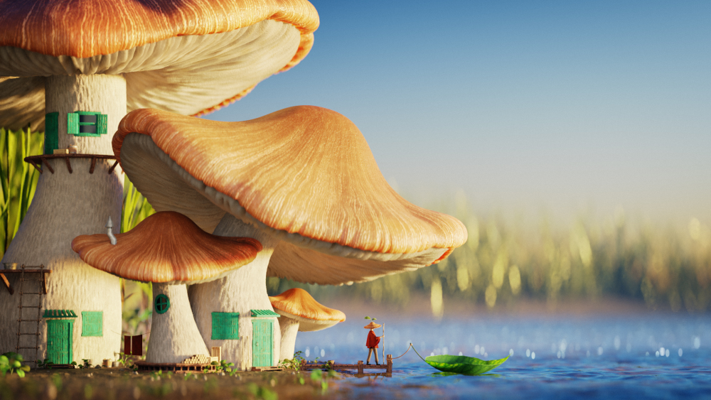 How to Create a Realistic Mushroom House in Blender