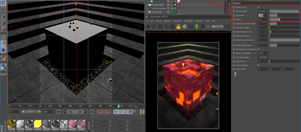 Octane For C4D Tutorial How To Make A Strange Cube (9)