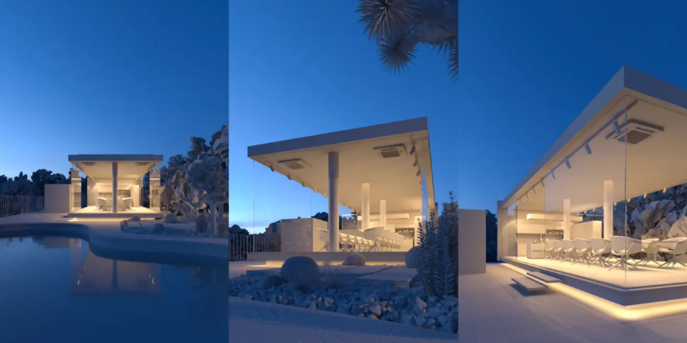 3ds Max Tutorial Analysis of Building Rendering in Dusk (4)