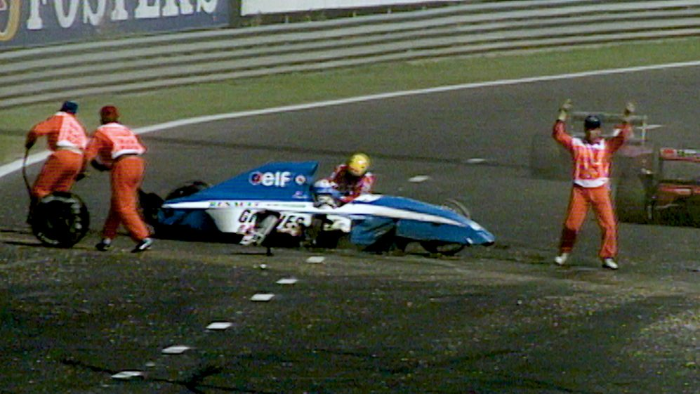 The accident at 1992 Belgian Grand Prix