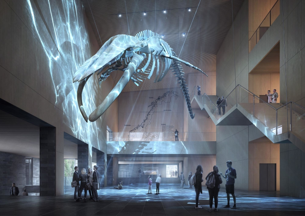 How To Interpret The 'Underwater' New Home Of The Blue Whale Skeleton In 3D: Introducing ArchViz Artist, Sonny Holmberg