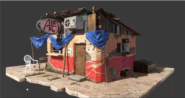 "3ds Max Tutorial: A ""Country Shop"" Scene Production Sharing(1)"