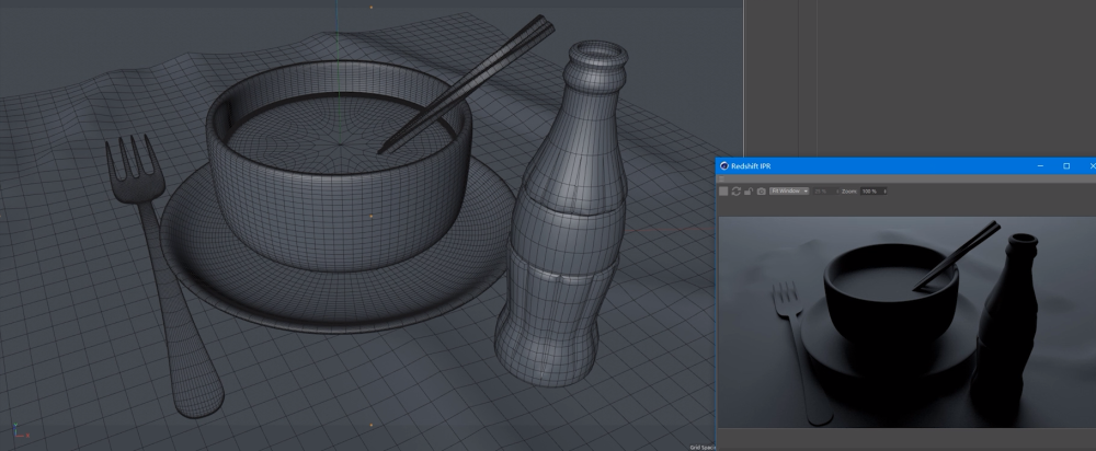Using Redshift For Cinema 4D To Render a Glass Ceramic Scene (4)