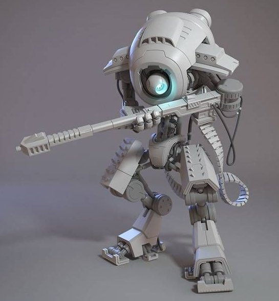 V-Ray for 3ds Max Tutorial How To Create a Sniper Robot -12