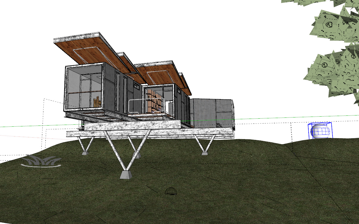 V-Ray For Sketchup To Make A Work Container Cabin 9