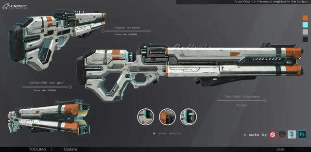 3ds Max Tutorial The Production and Sharing of Sci-Fi Guns 3