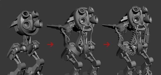 V-Ray for 3ds Max Tutorial How To Create a Sniper Robot -3