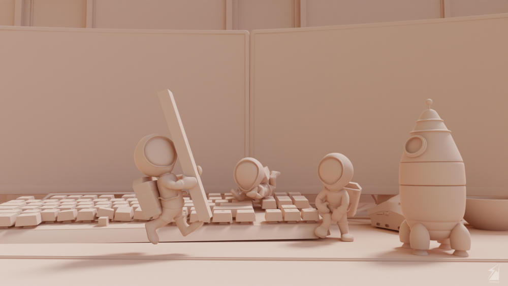 3D Astronauts' Escape Story Made in Blender
