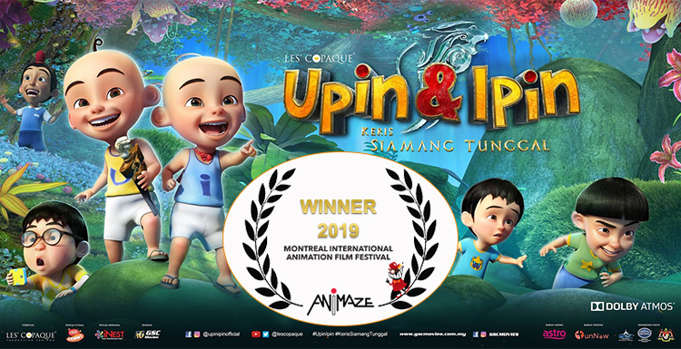 """Upin & Ipin"" Won The Best Feature Category at ANIMAZE 2019"