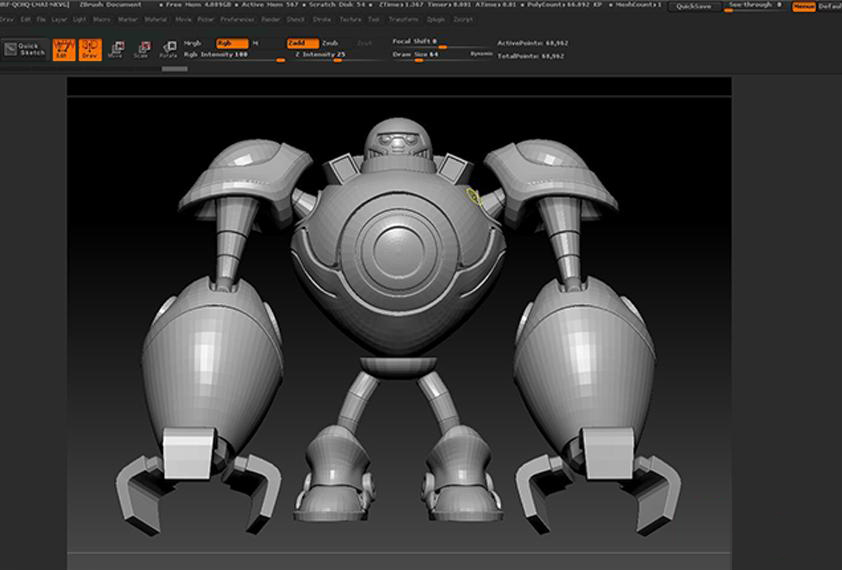 Making A Robots of League of Legends with Maya and Houdini-3