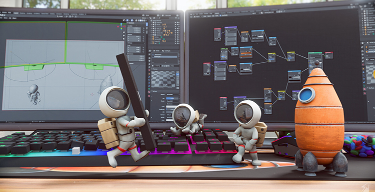 Fox's Got Talent February Winner Revealed: 3D Astronauts' Escape Story  Made in Blender