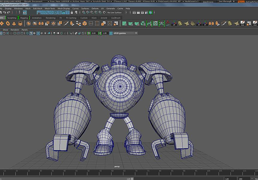 Making A Robots of League of Legends with Maya and Houdini-2