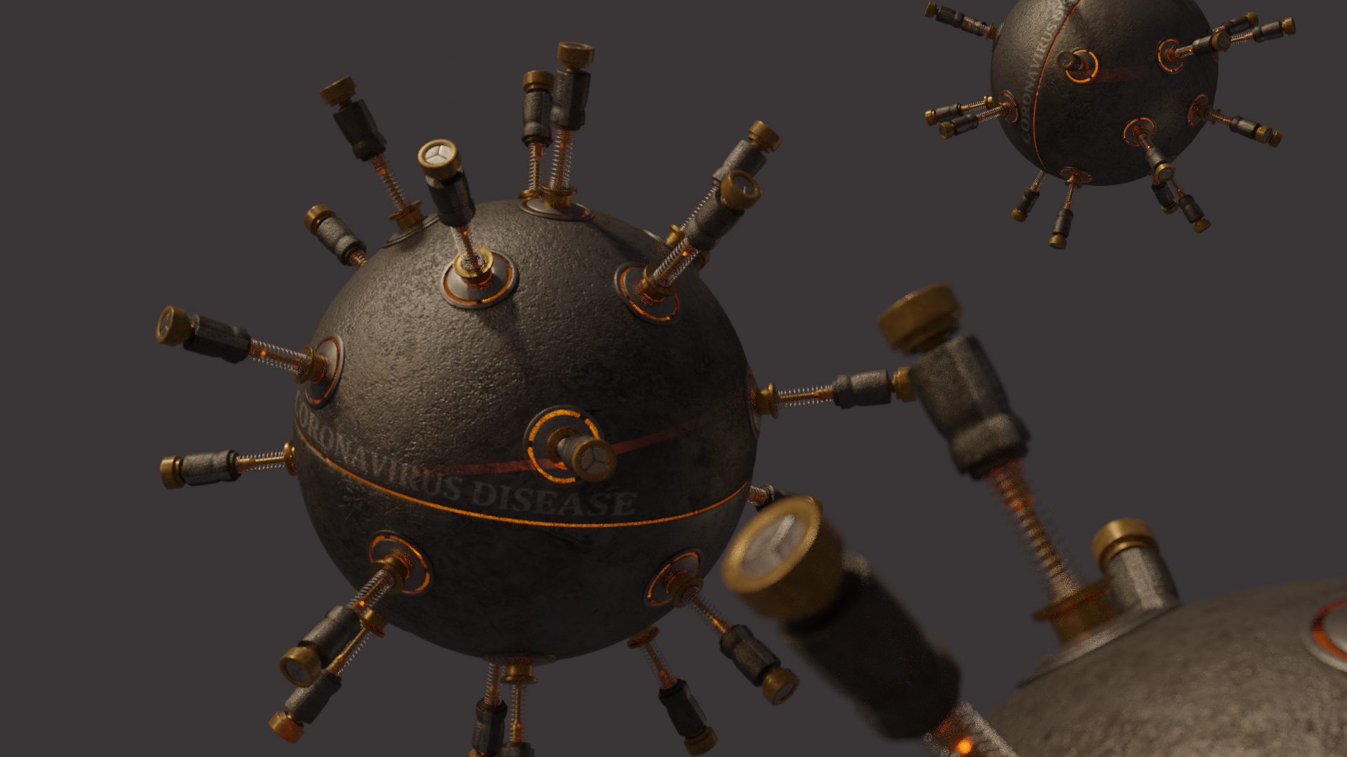 Making Machinery Style Coronavirus in Blender 4