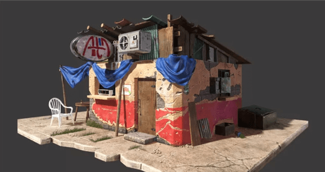 "3ds Max Tutorial: A ""Country Shop"" Scene Production Sharing(2)"