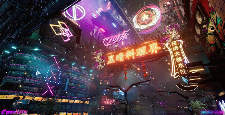 Interview with Junliang Zhang, Creator of the Game Scenes Project CyberNeon