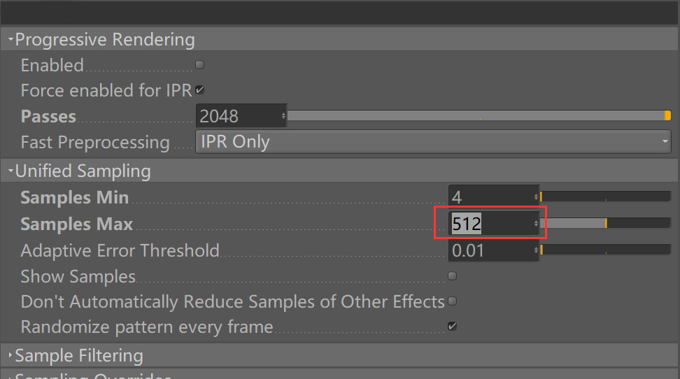 How Redshift for C4D accelerates rendering while noise reduction 11