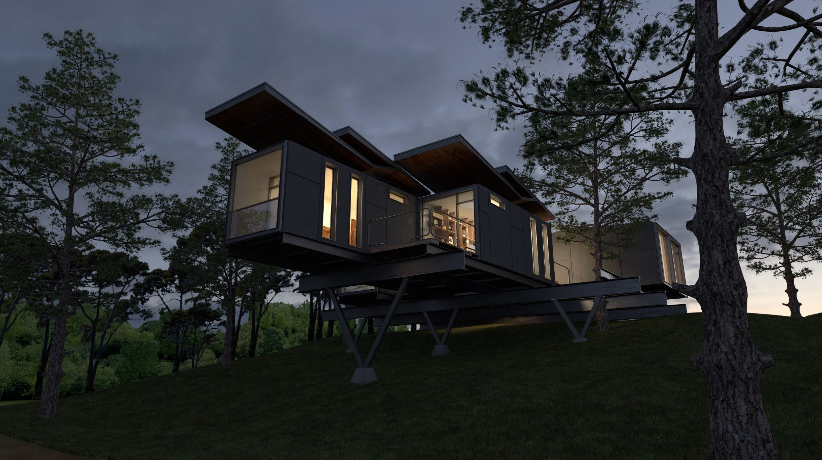 V-Ray For Sketchup To Make A Work Container Cabin 12