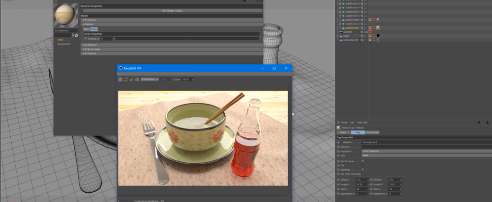 Using Redshift For Cinema 4D To Render a Glass Ceramic Scene (1)