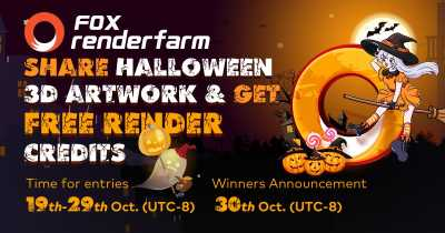 Share Your Halloween 3D Artwork & Get Free Render Credits from Fox Renderfarm
