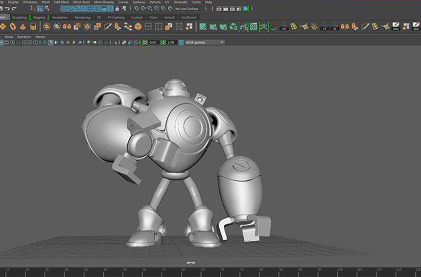 Making A Robots of League of Legends with Maya and Houdini-7