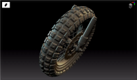 How to Make High-precision Models For Motorcycle Tire Patterns And Wheels  in 3ds Max and Zbrush(1)