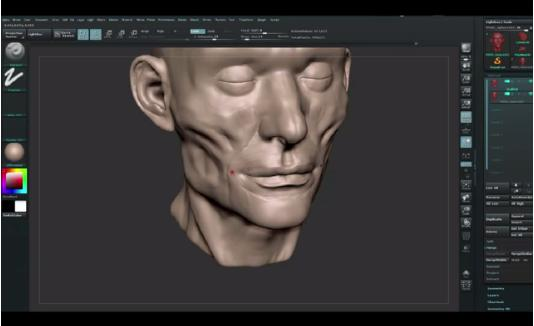 ZBrush Tutorials: How to Build Facial Muscles and Facial Features with ZBrush?(2)