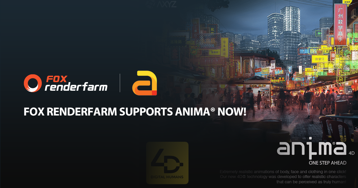 Fox Renderfarm Supports anima® Now, Live 3D Challenge & More
