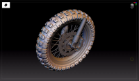 How to Make High-precision Models For Motorcycle Tire Patterns And Wheels  in 3ds Max and Zbrush(2)