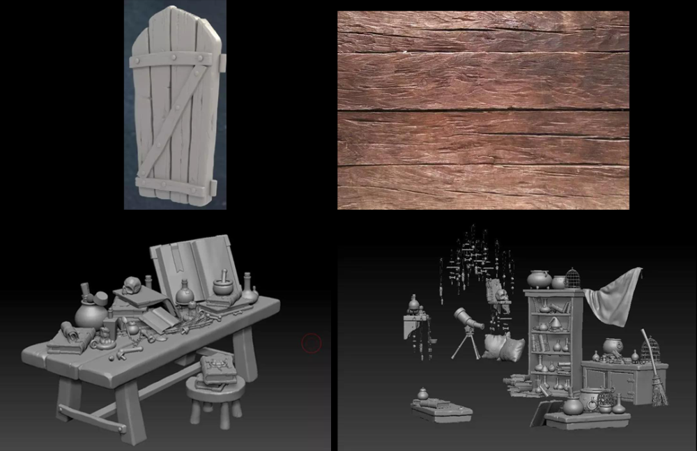 3ds-Max-Tutorials-Semi-realistic-3D-Game-Scene-Interior-Production-Sharing