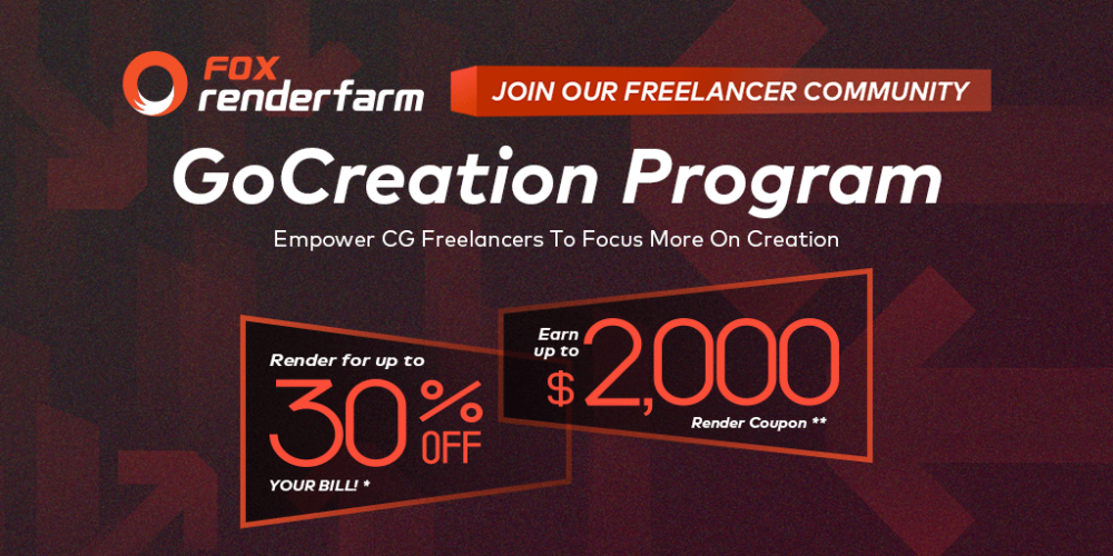 GoCreation Program - Fox Renderfarm