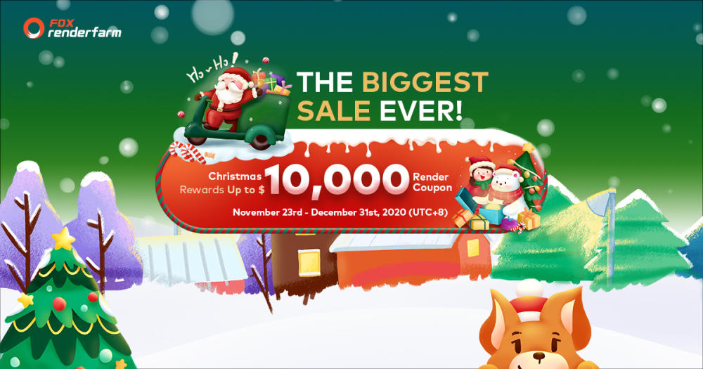 Christmas Big Sale - Fox Renderfarm