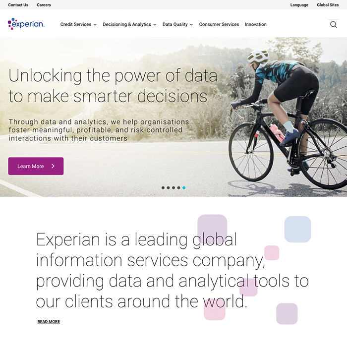 Experian screenshot