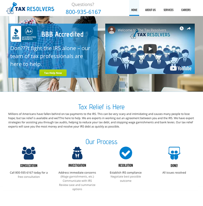 The Tax Resolvers screenshot
