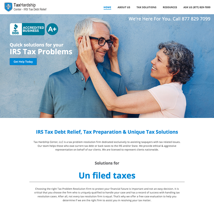 Tax Hardship Center screenshot